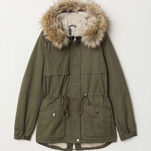 H&M Winter Utility Jacket Olive Green